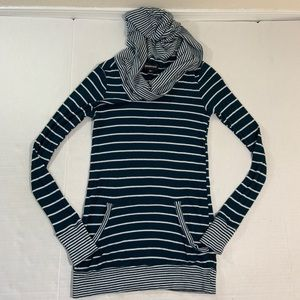 Betabrand Cowl Neck Hoodie Tunic Sweater XS